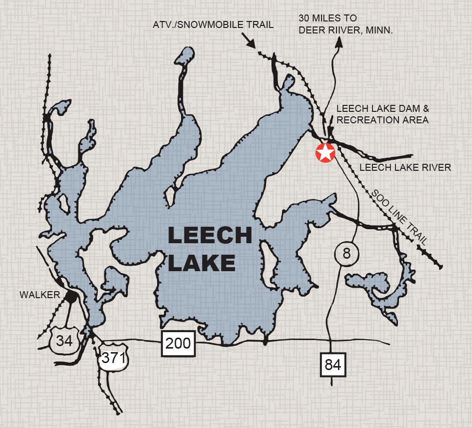 Leech Lake map