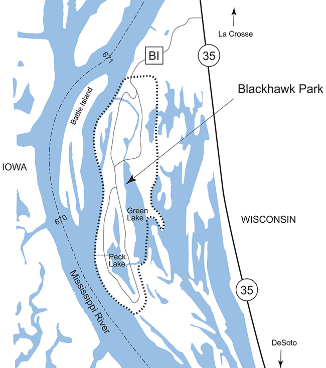 Blackhawk Park map